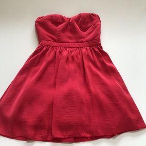 Speechless Pink Strapless Zipper Back Dress